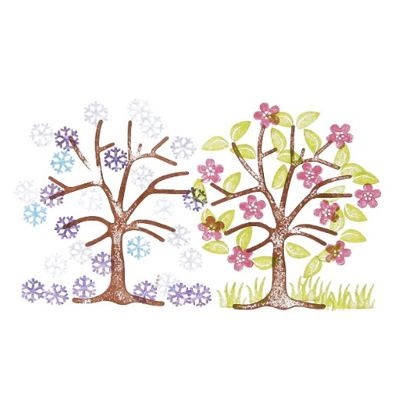 Credu.nl - Stempelsetl boom met 6 kleine stempels om de boom mee te versieren