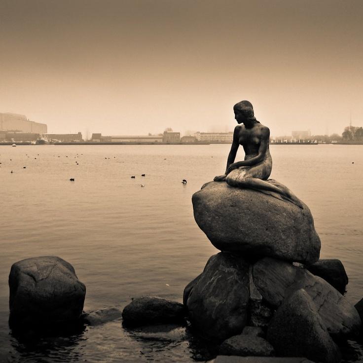Den lille Havfrue, København - Danmark (The Little Mermaid sculpture - Denmark)