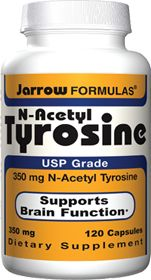 N-Acetyl Tyrosine by Jarrow Formulas - Buy N-Acetyl Tyrosine (350 MG) 120 Capsules at 500 milligrams, 2 or 3 tablets thirty minutes before breakfast and thirty minutes before lunch if hunger and appetite are a problem.
