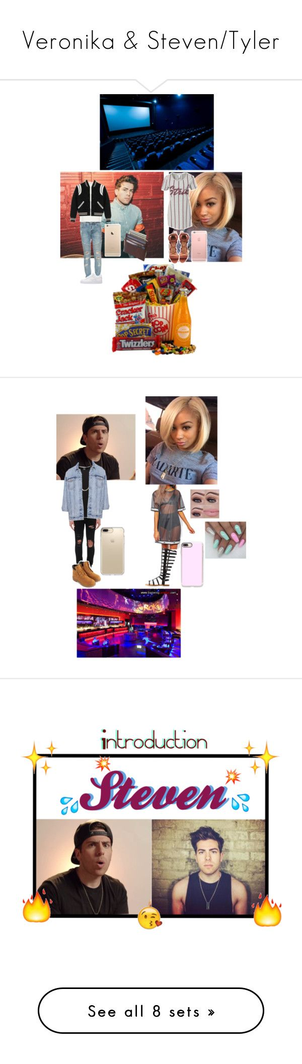 """""""Veronika & Steven/Tyler"""" by geazybxtch24 ❤ liked on Polyvore featuring beauty, NLY Trend, Stampd, NIKE, River Island, Yves Saint Laurent, Shade, AMIRI, Jack & Jones and Giani Bernini"""