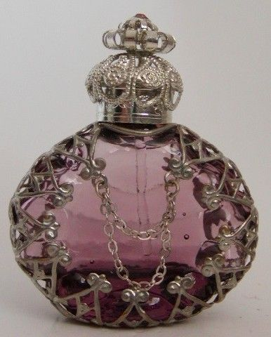 Czech Handmade Jeweled Filigree Perfume/Oil Bottles and Pendants