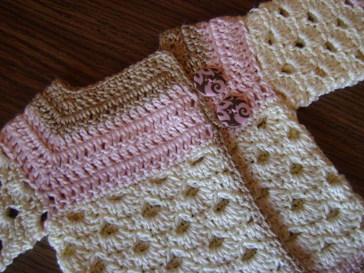 "Free crochet pattern for a newborn sweater! ""The Mini Moogly Sweater"""