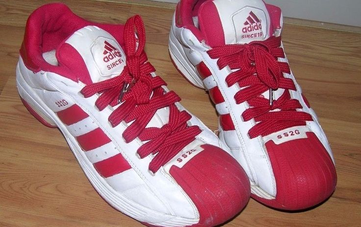 Adidas SS2G Superstar Red White Leather Sneakers Men's Size 13