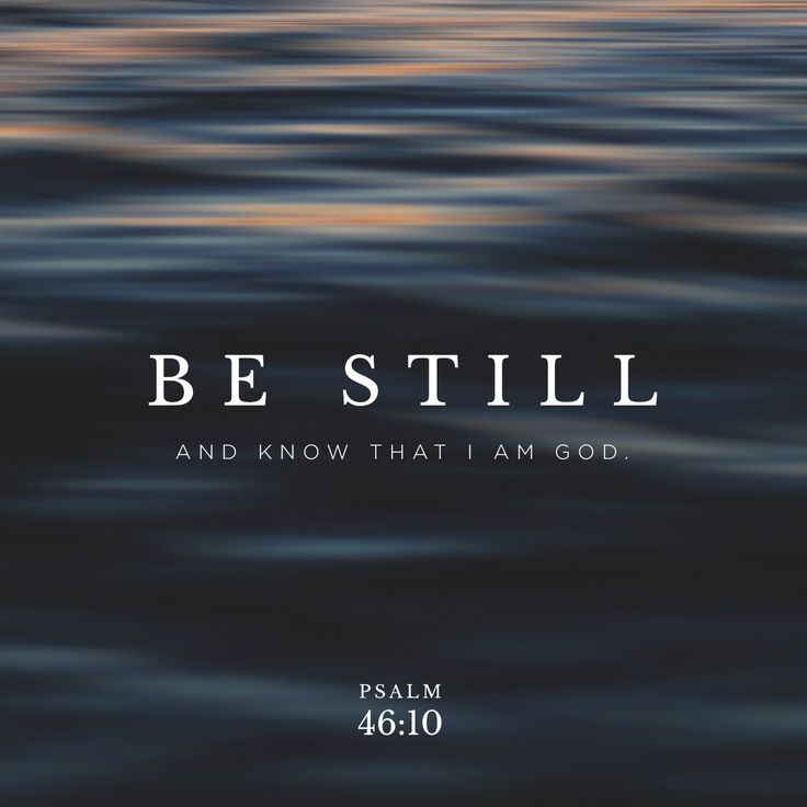 """""""Be still, and know that I am God: I will be exalted among the heathen, I will be exalted in the earth."""" Psalms 46:10 KJV"""