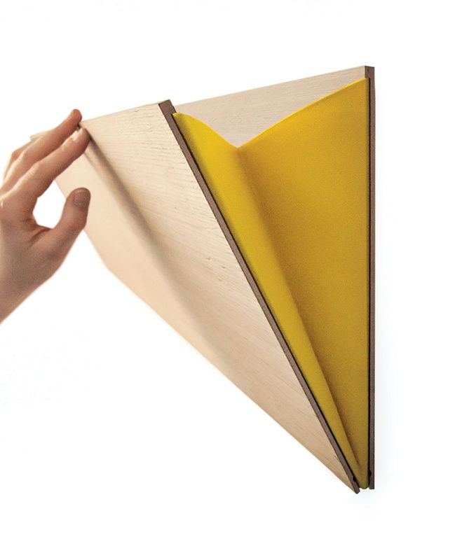 Unobtrusive and easily mounted, the Leaning Wall Pocket, a simple but sturdy storage pouch, is made in Belgium from plywood and comes in ...