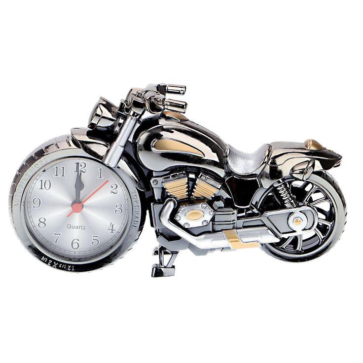 Quartz Alarm Clock Super Cool Motorcycle Model Creative Retro Gift Decor