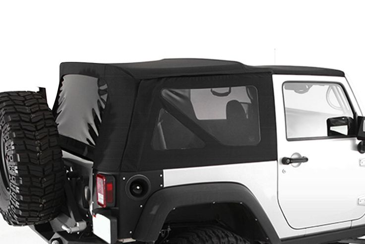 2010-2016 Jeep Wrangler 2 Door Soft Top with Tinted Windows Black Diamond