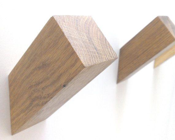 Gancho de pared de roble, Perchero madera, Perchero, gancho madera moderno…