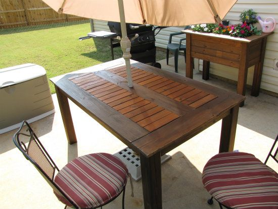Free DIY Furniture Plans from The Design Confidential: Chesapeake Outdoor Dining Table