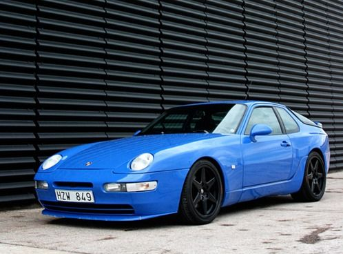 Porsche 968 maritime blue techart rims