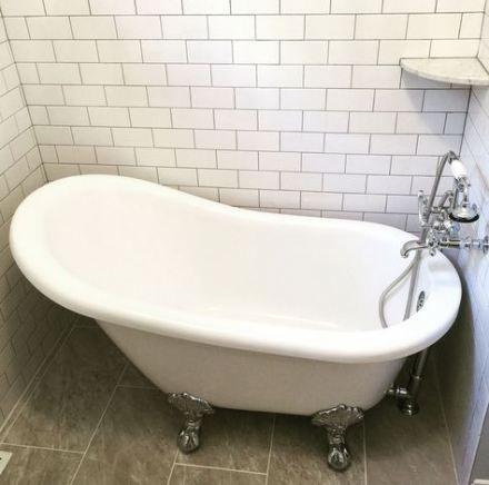 narrow bathroom remodel white subway tiles 31+ ideas #