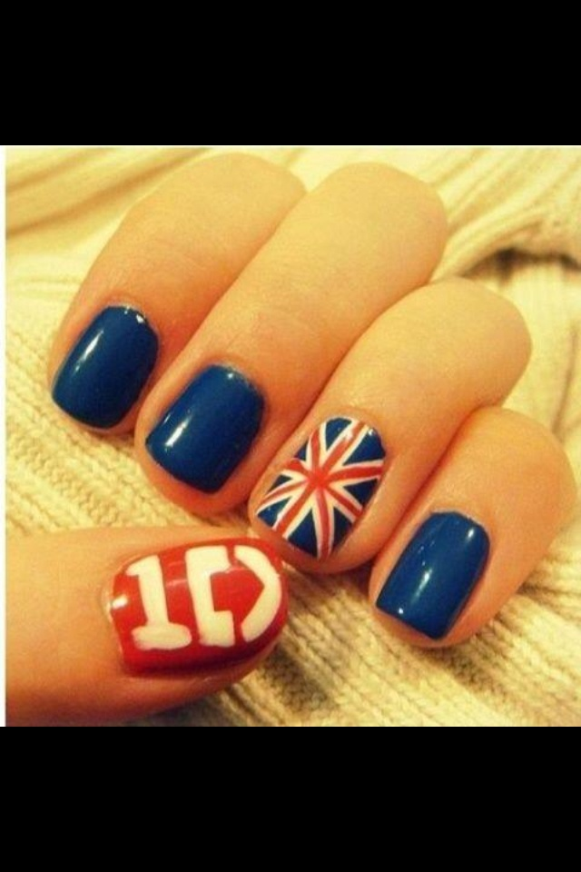 One Direction nail art...Crafts Ideas, Nails Art, 1D Nails, Nails Design, Cute One Direction Nails, Nails Ideas, Irish Flags, Nails Polish, Onedirection