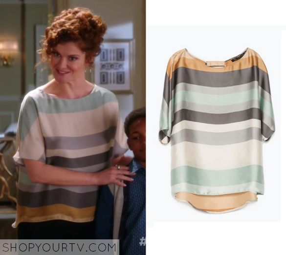 Devious Maids: Season 3 Episode 10 Evelyn's Striped Blouse