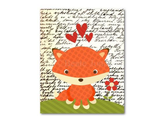 Printable Nursery Art  Little Fox by CuteMemories on Etsy, $8.00