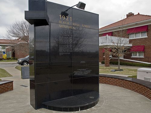 Monument dedicated to the great historic Black Wall Street, Tulsa, Oklahoma