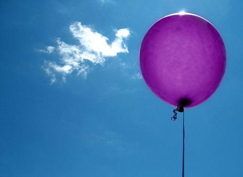 Releasing balloons for you, hoping they make their way into the Heavens