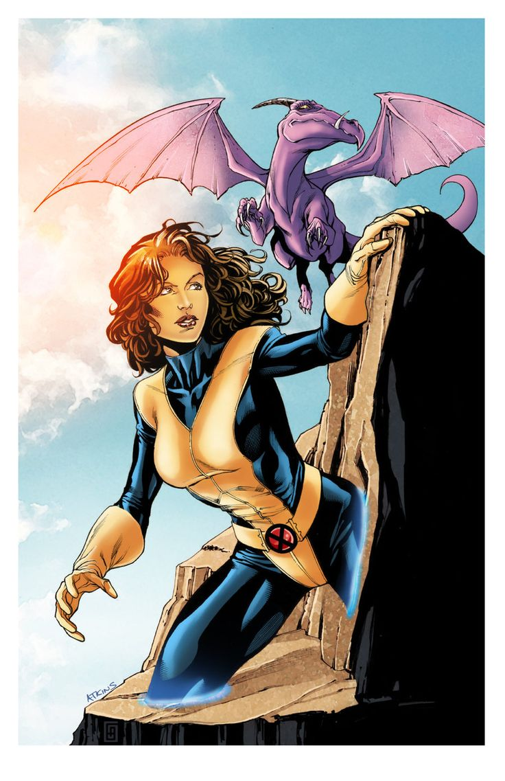Shadowcat and Lockheed by Robert Atkins