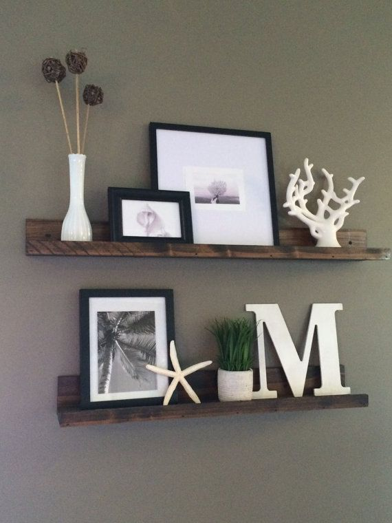 Shelf Rustic Wooden Picture Ledge Shelf Gallery Wall By Lovemade14 Part 85