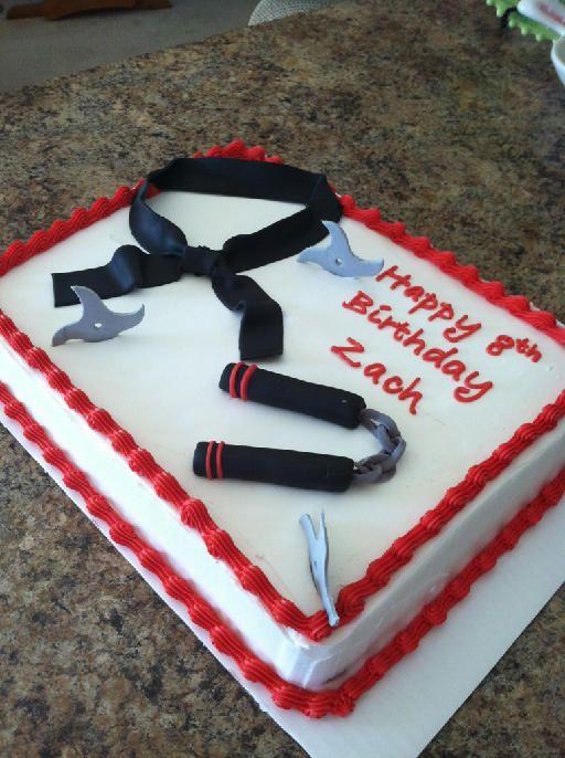 Karate weapon cake