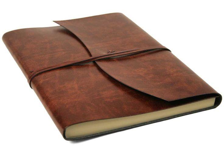 Romano Handgemachtes Italienisches Notizbuch aus recyceltem Leder, Größe A4 (23cm x 30cm)