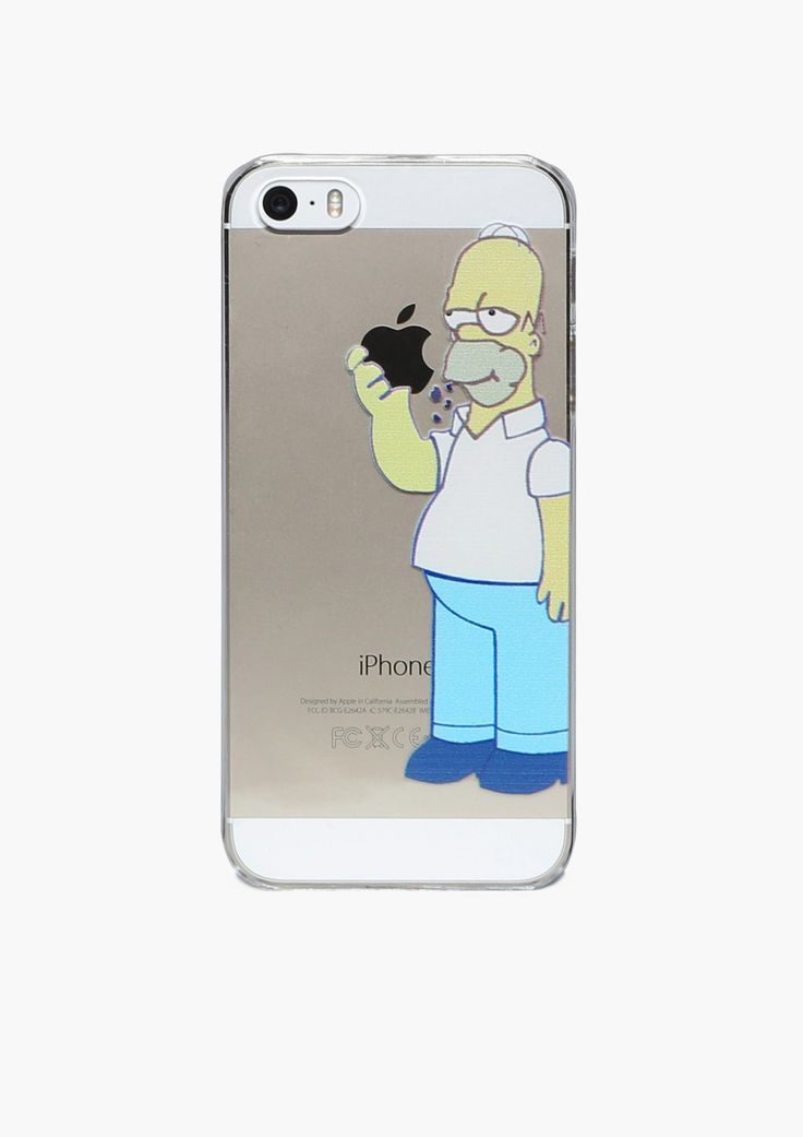Hungry Homer iPhone 5 Case in Clear