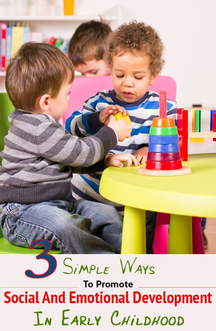 3 Simple Ways To Promote Social And Emotional Development In Early Childhood #socialskills #speech therapy http://www.speechtherapyfun.com/