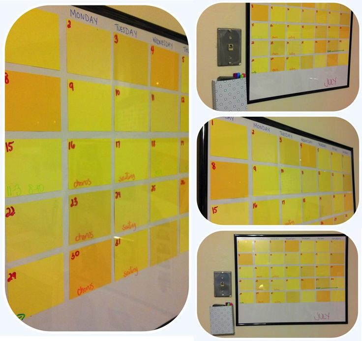 69 best Calendar images on Pinterest | Dry erase calendar, Diy ...