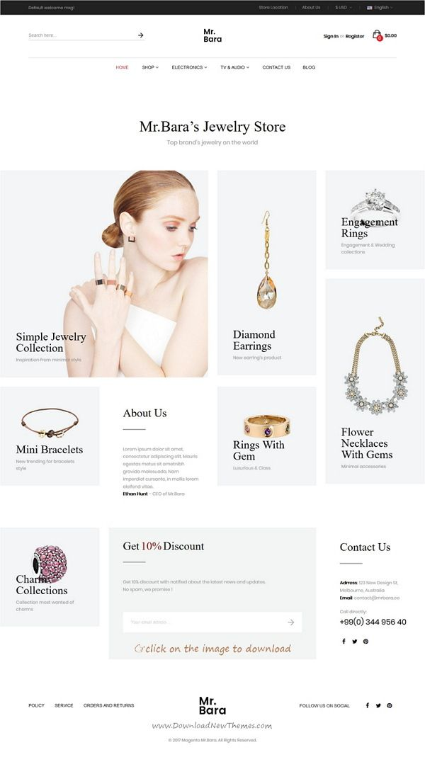 Top 10 Best New Premium eCommerce Themes: Mrbara is clean and modern design multipurpose responsive #Magento 1 & 2 theme for stunning furniture, electronics, jewelry, clothes, furniture or sports #shop eCommerce website. It has 9 niche homepage layouts, Ajax cart, Quick view, Elevate zoom, Hover for product image and much more awesome features.