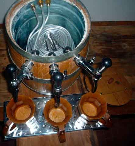 Cerveza de Argentina - Choppera con un tonel