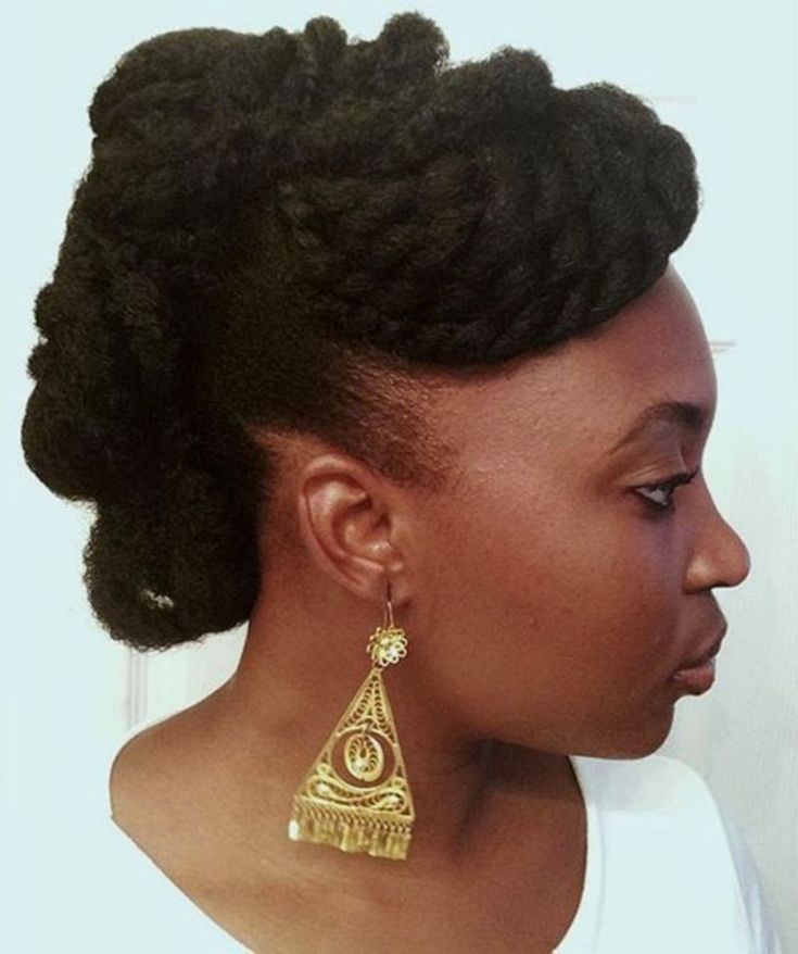 Elegant Updo for Natural Black Hair