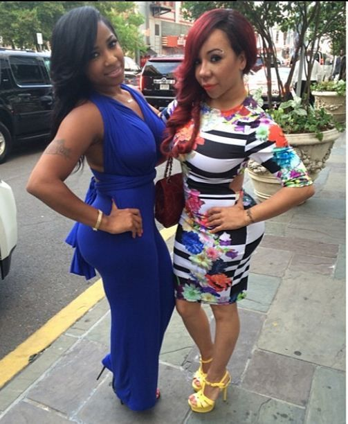 Toya Wright and Tiny
