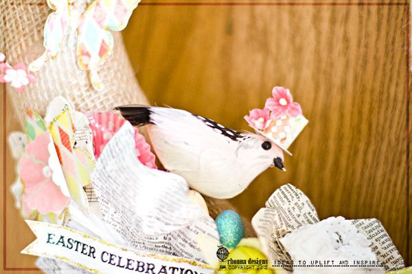 How to make the adorable tophat for the bird found here!: Crafty Stuff, Mixed Media, Adorable Tophat, Easter Wreaths, Diy Hybrid, Rhonna Design, Crafts Inspiration, Hybrid Easter, Altered Book