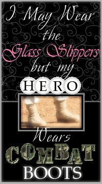 I may not be a military wife, but awww.... they are still my heros too!