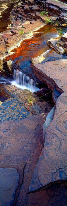 Nature's patterns. National Park - Kalamina Gorge, Karijini, Western Australia.
