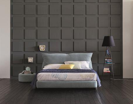 BRAVO DAN upholstered low storage bed.