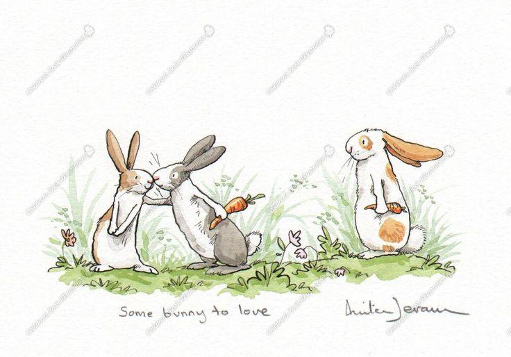 Some bunny to love anita jeram tiere pinterest illustration osterhase zeichnen und hase - Osterhase zeichnen ...