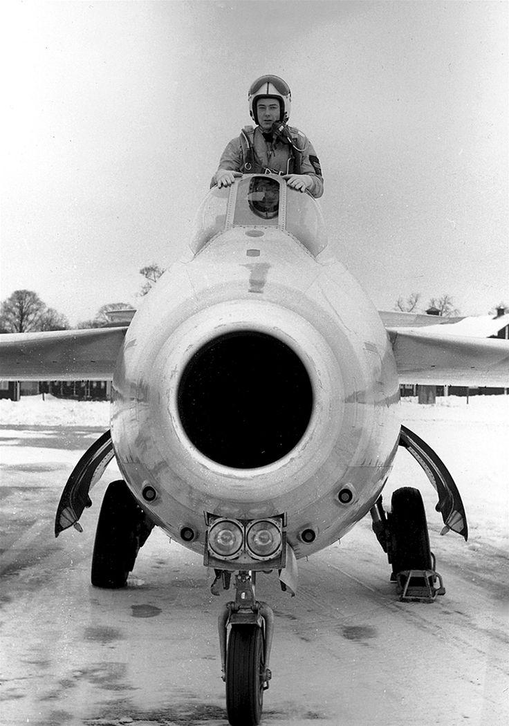 """Royal Swedish Air Force SAAB 29 """"Tunnan"""" (""""The Barrel"""")"""