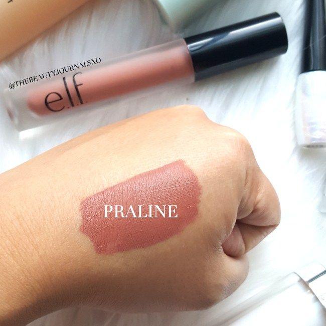 Elf Liquid Matte Lipstick In Praline Swatches Elf Makeup Haul And