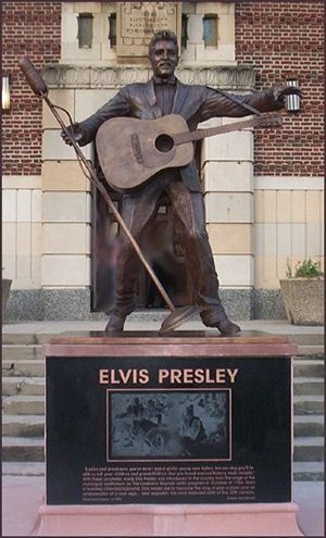 Statue unveiled October 18th in front of the Municipal Auditorium in Shreveport, Louisiana, home of the famous Louisiana Hayride.
