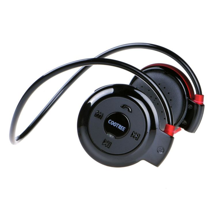 Cootree Wireless on Ear Headphone Bluetooth Sport Headset Water Resistant with Microphone Black/Red. NEW VERSION: Updated Bluetooth HiFi sound quality and stable signal transmission. Lightweight sweat-proof design provide portable usage and enable you to enjoy sporting pleasure in running, jogging, walking and more. BUILT-IN MICROPHONE: Let you answer calls quickly without removing your headphones. LONG USING LIFE: The battery allows continuous enjoyment of music for up to 16 hours…