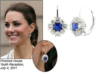 Kate Middleton Sapphire And Diamond Earrings Beautiful