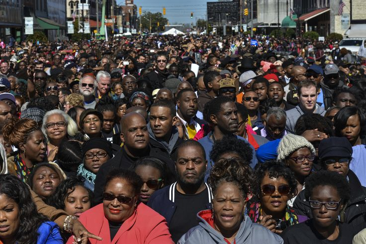'The march is not yet over,' Obama tells crowd at foot of Selma bridge
