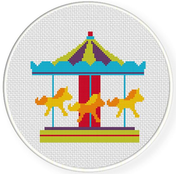 Charts Club Members Only: Carousel Cross Stitch Pattern