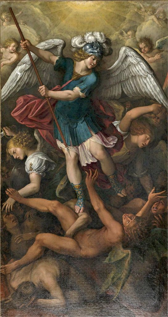 Painting of Saint Michael from the Sacra di San Michele, Val di Susa