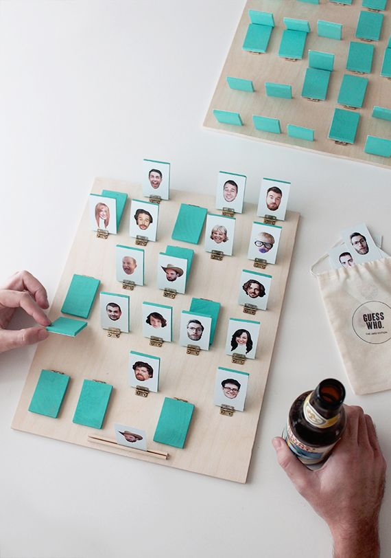 How To: Personalized Guess Who? Inspired Board Game #games #DIY