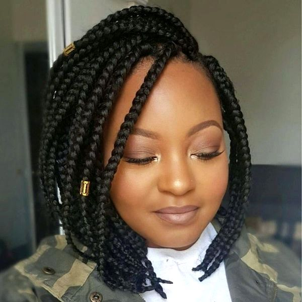 Braided Bob Hairstyle Ideas Trending In February Short Braids Hairstyles Bob Braids Bob Braids Hairstyles Bob Hairstyles