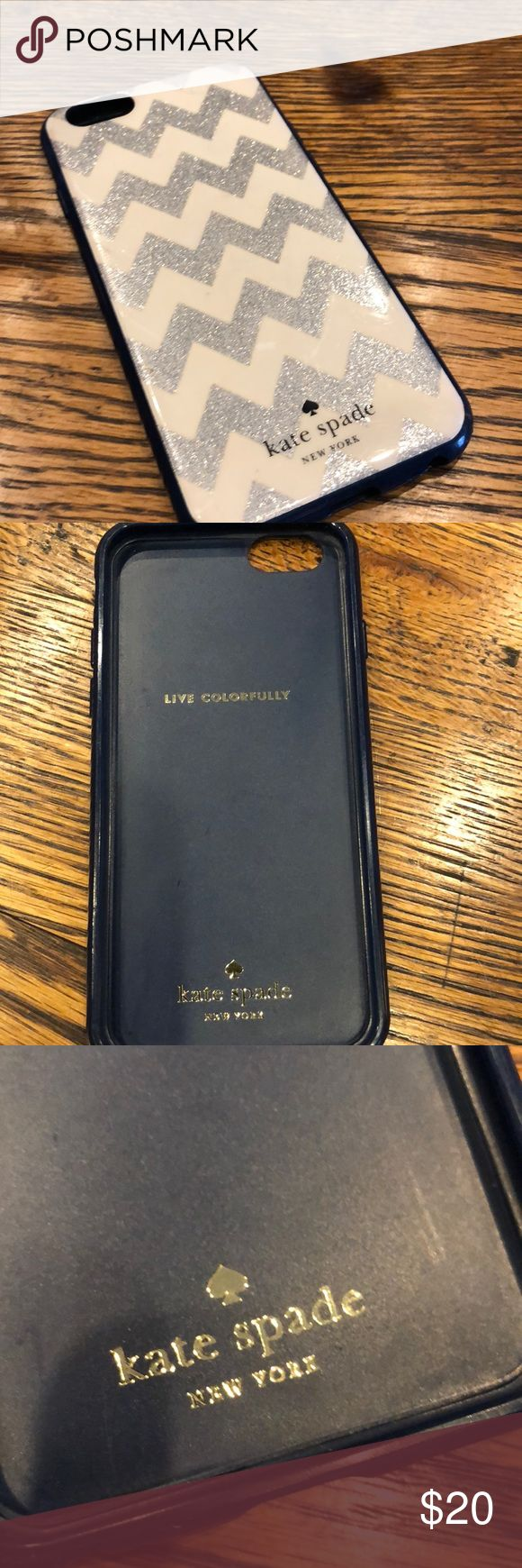 Kate Spade case for iPhone 6s Shows wear and I would still be using it if I didn't need a new phone!  Priced for you to love! kate spade Accessories Phone Cases