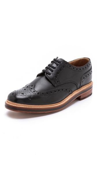 Dylan-cuir Bruni Bout D'aile Brogues - Tan Grenson qpl4R