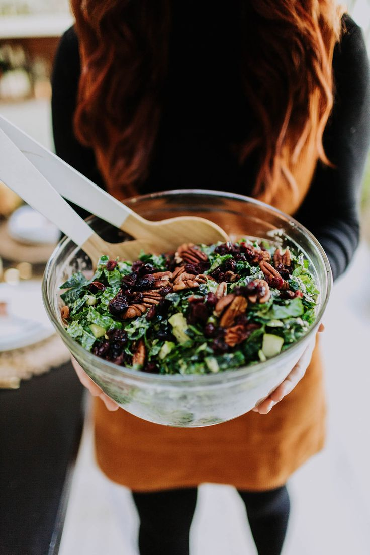 Creamy Kale Harvest Salad | A Beautiful Mess | Bloglovin'