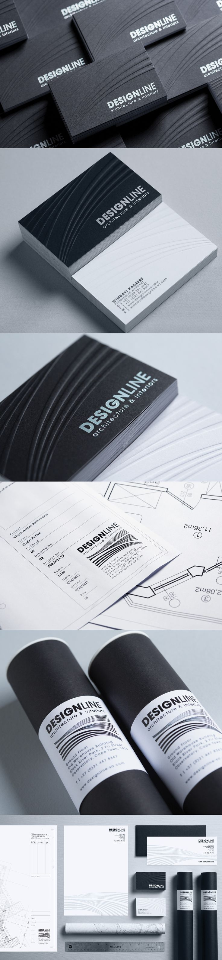 Design line Architecture & Interiors Corporate Stationary, Business Cards, Letterheads, foiling and embossing.